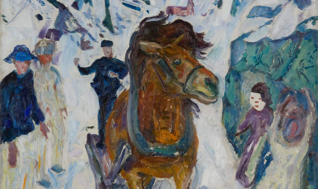 Edvard Munch: Galopperende hest/Galloping horse