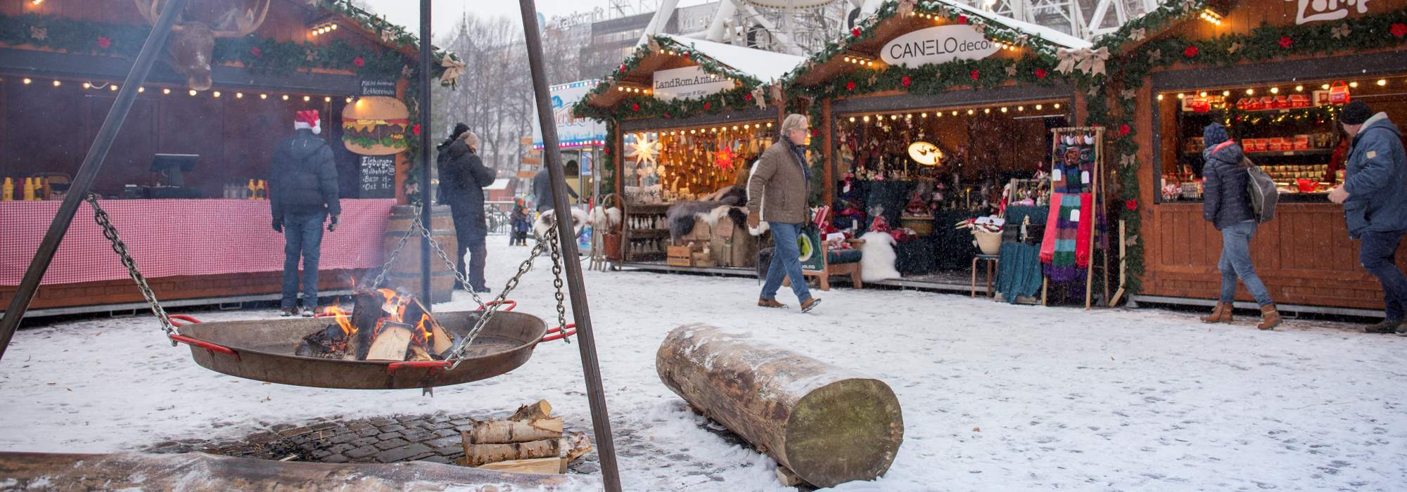 Christmas market in Oslo, detail