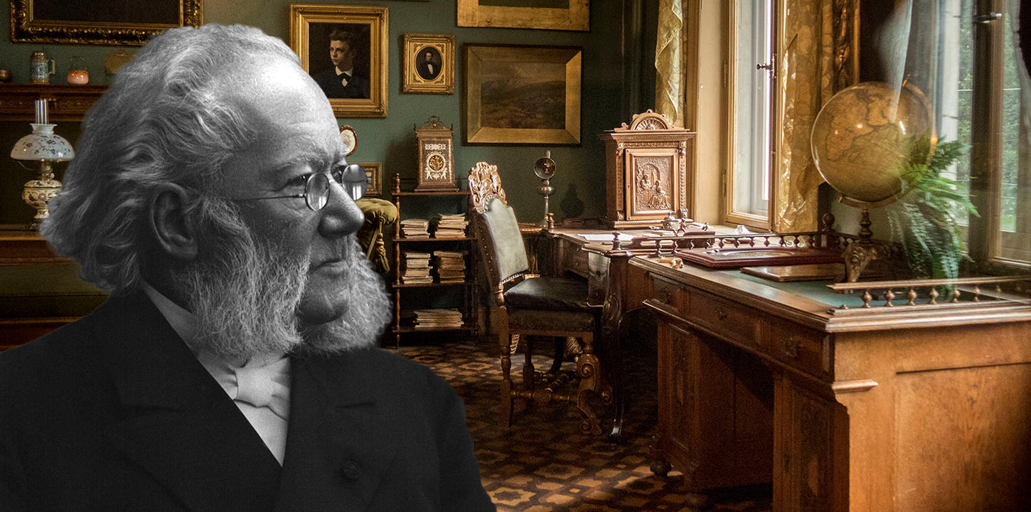 Henrik Ibsen and his office