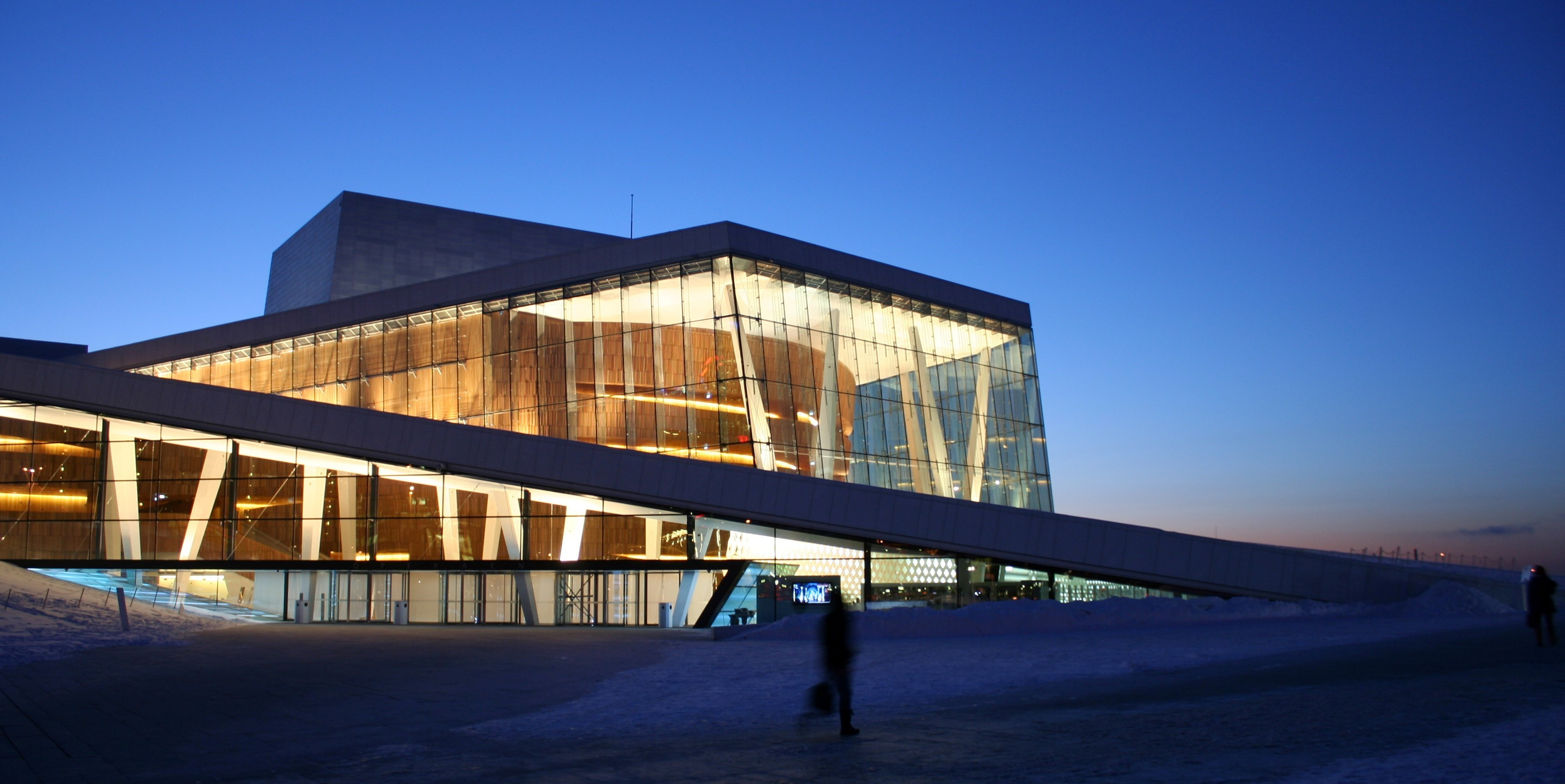 Winter morning in Oslo: The Opera House