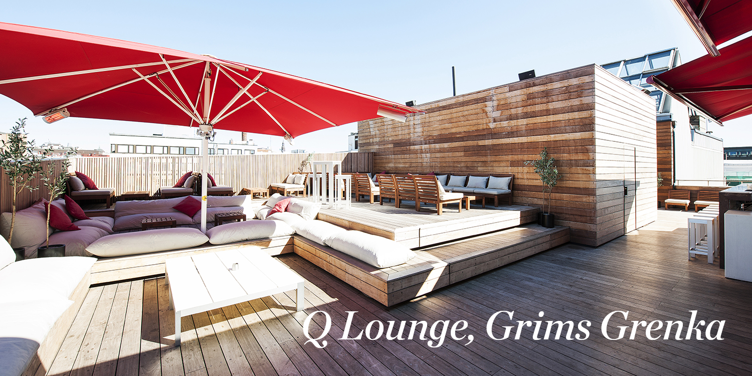 Q Lounge, Grims Grenka