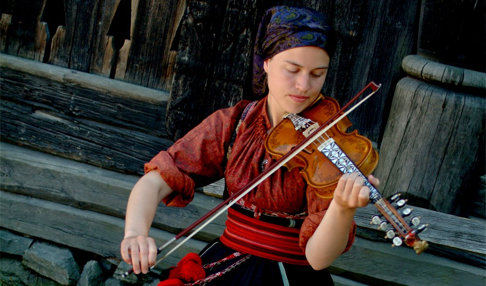 Norsk Folkemuseum, fiddle player