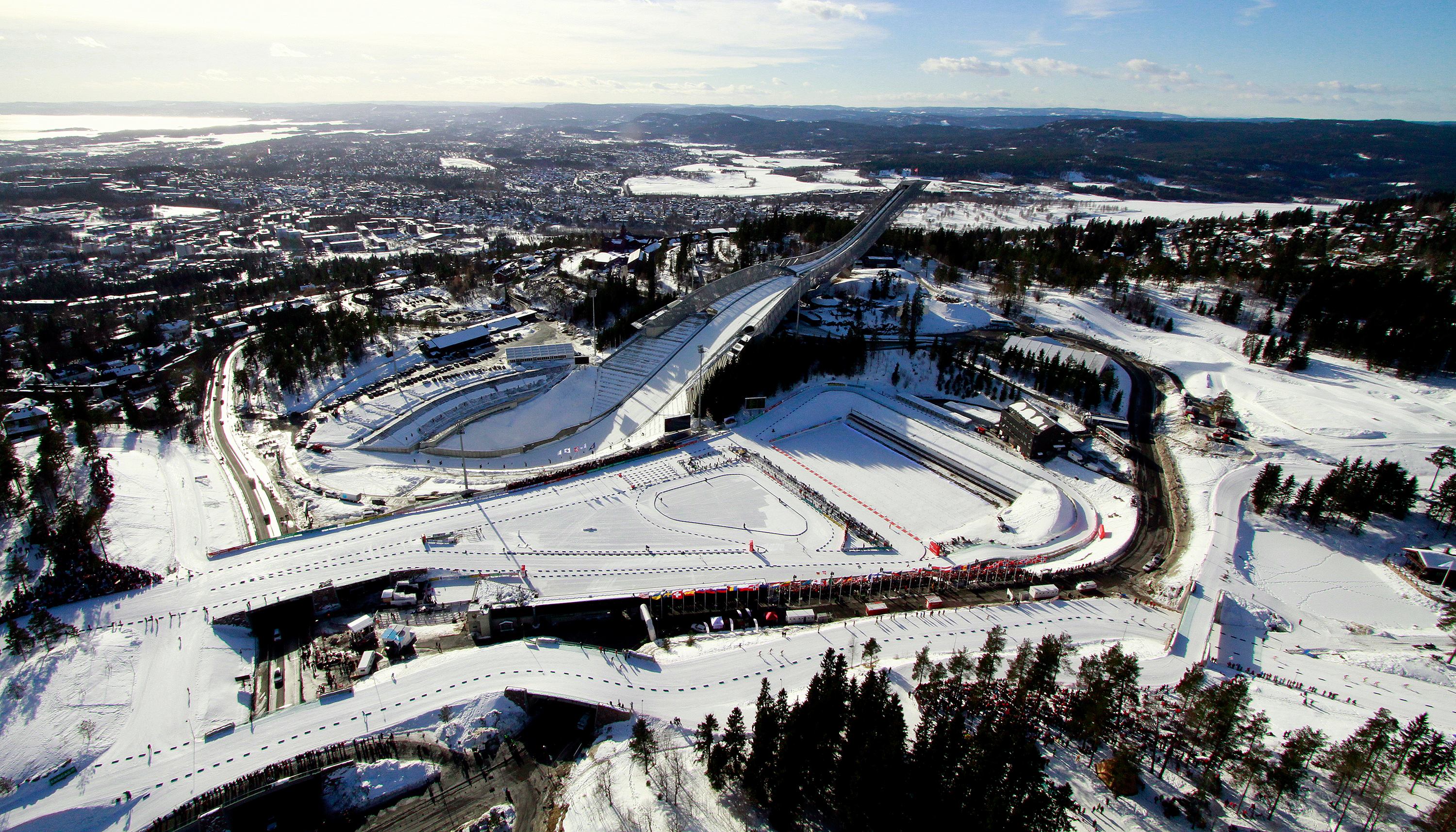 Biathlon in Holmenkollen National Ski Arena