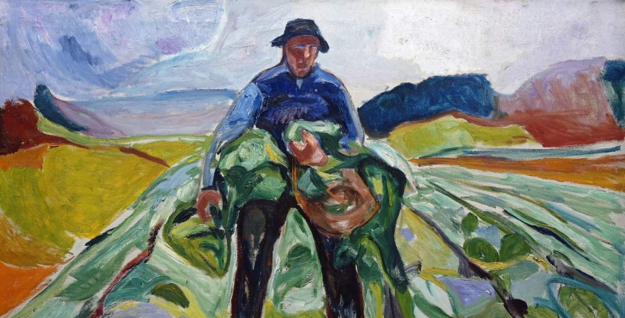 Mann i kålåkeren/Man in the cabbage field (1916)