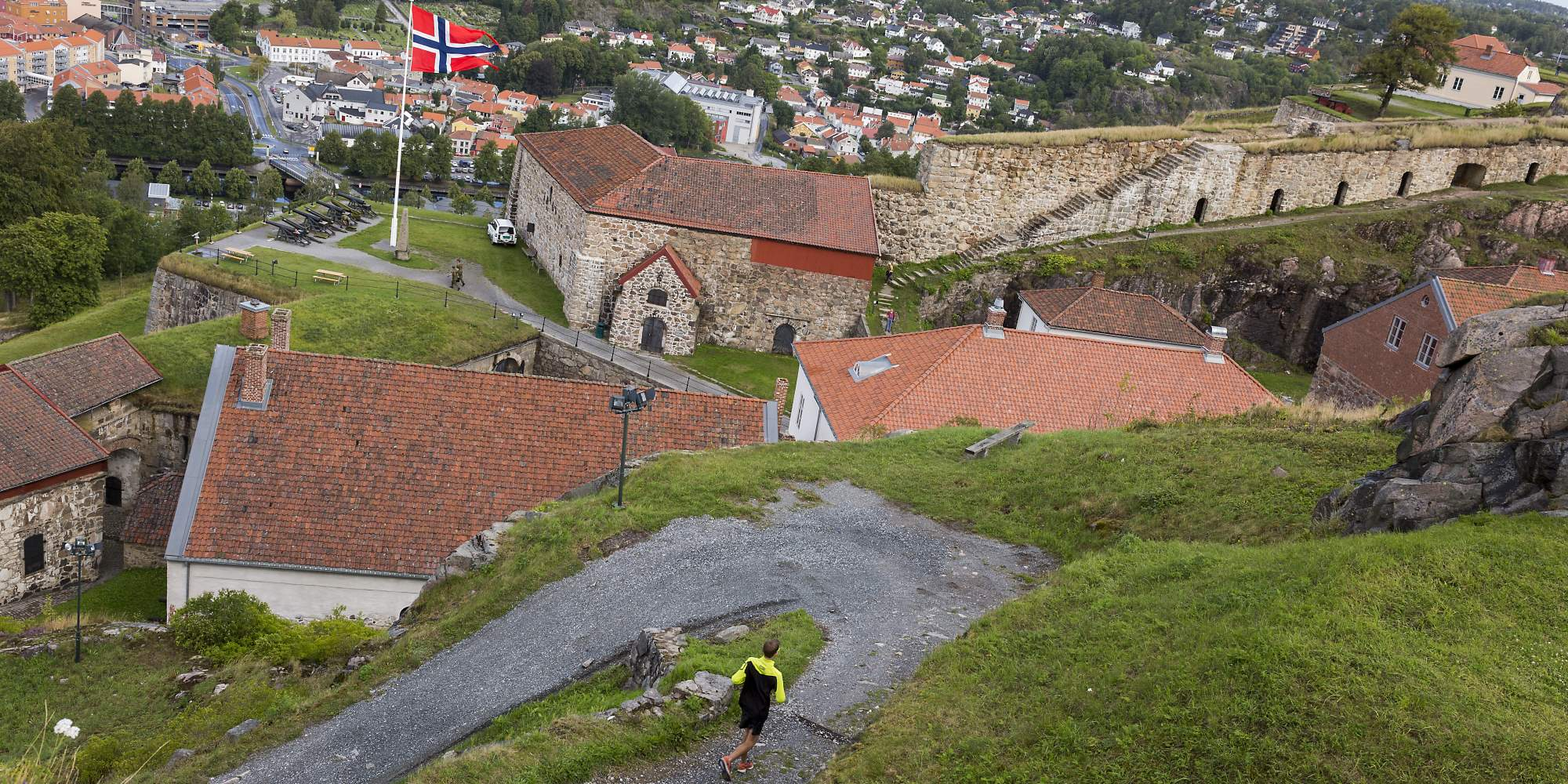 Overview of Fredriksten Fortress