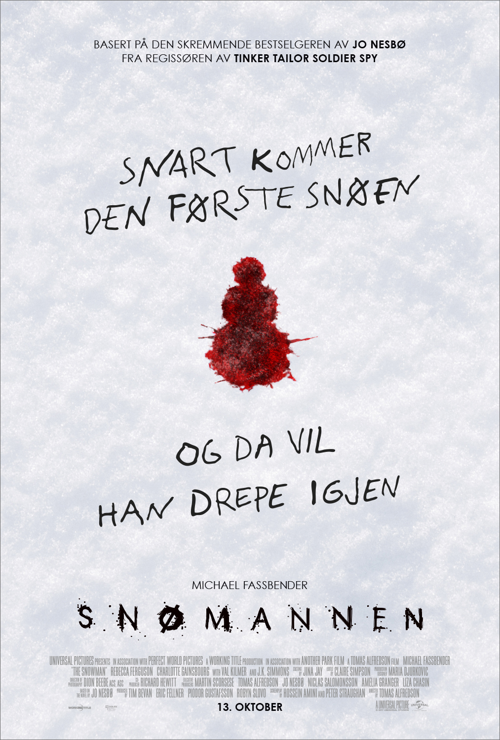 Snømannen, av Working Title & Universal