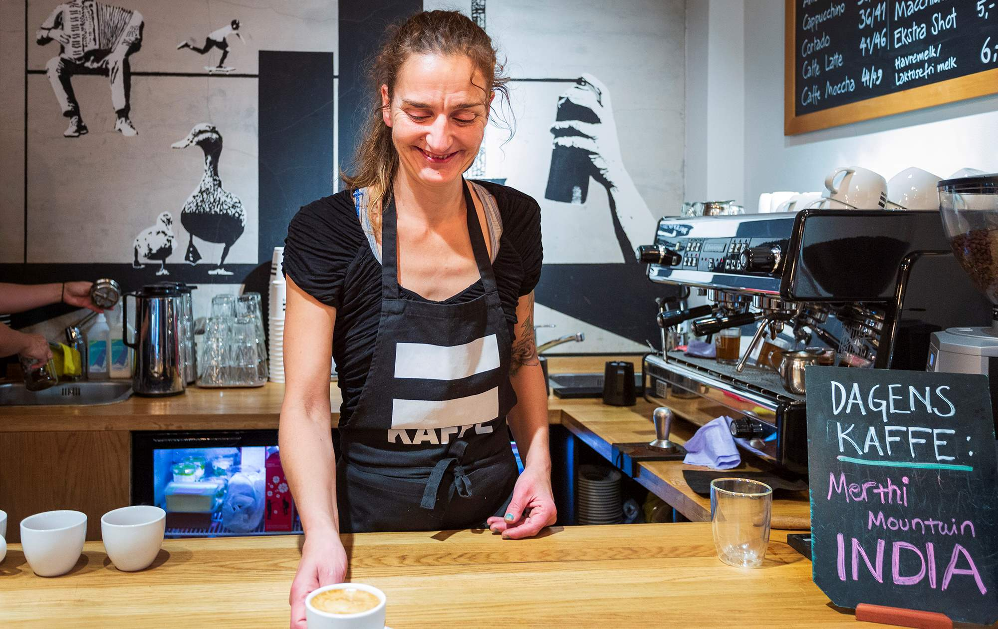 Barista at =Kaffe