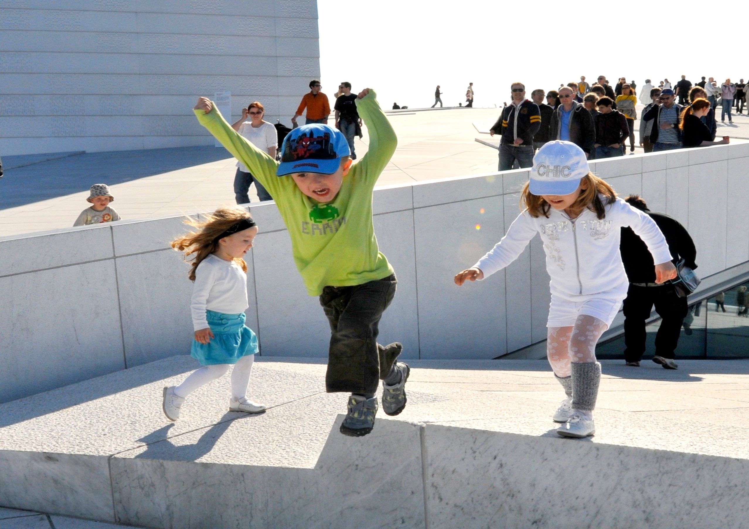 Children on the roof of the Opera House