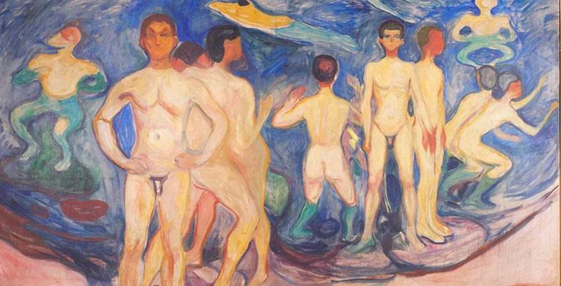 Edvard Munch: Badende menn/Bathing men