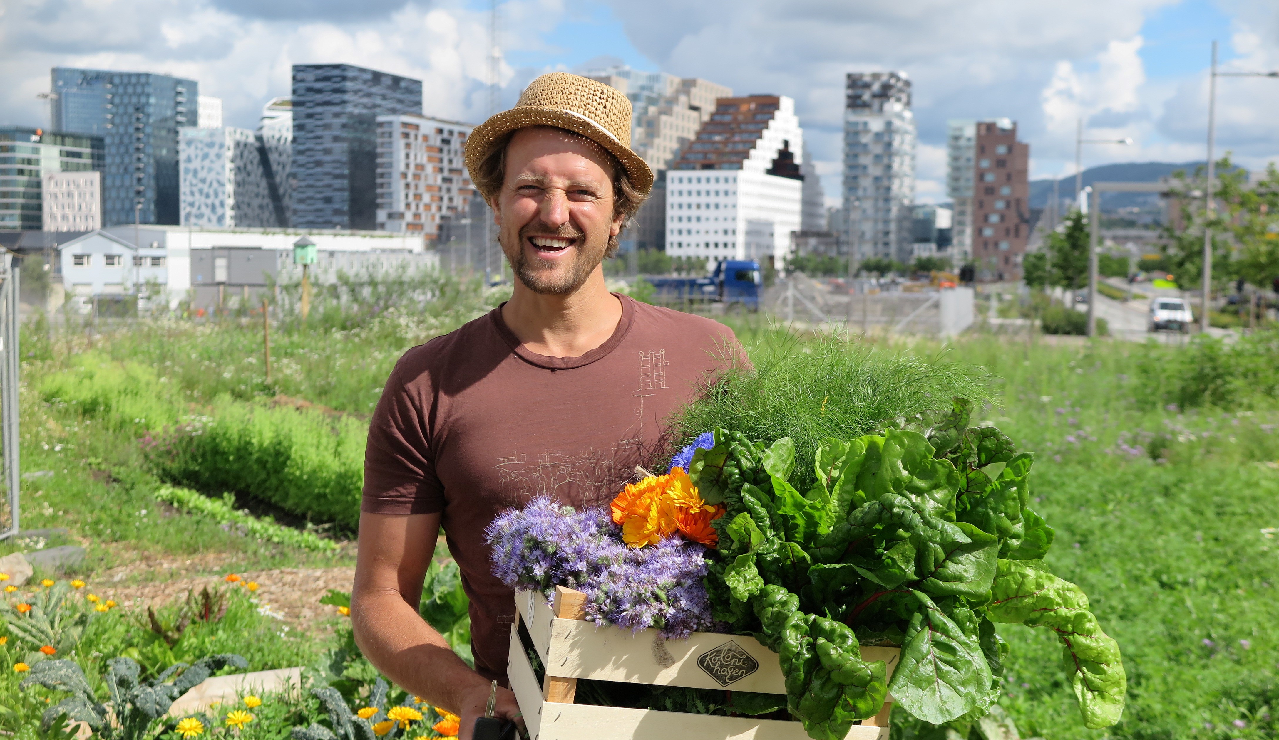 City farmer Andreas Capjon