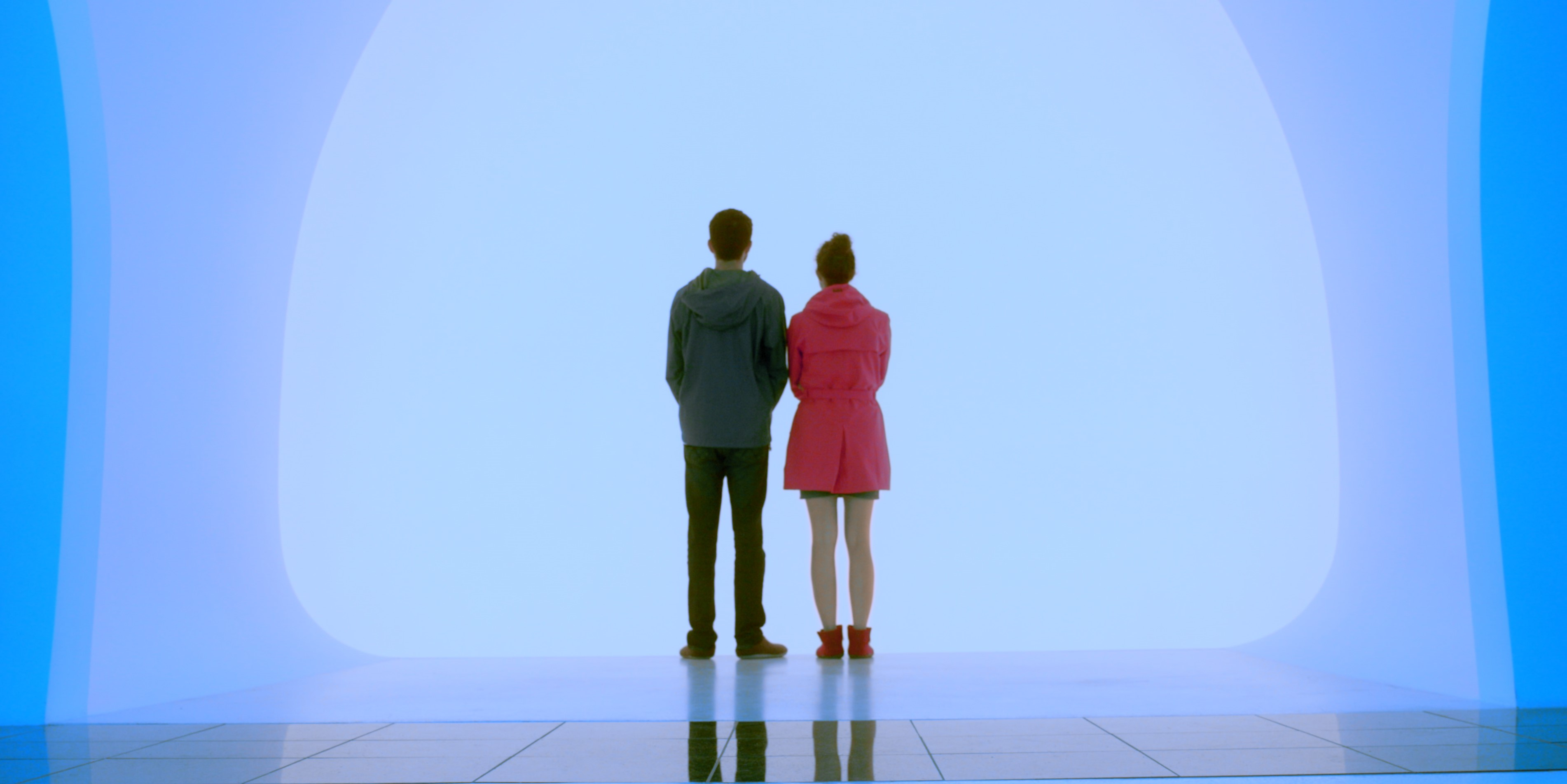 Marela and Sam visiting the James Turrell installation in Ekebergparken Sculpture Park