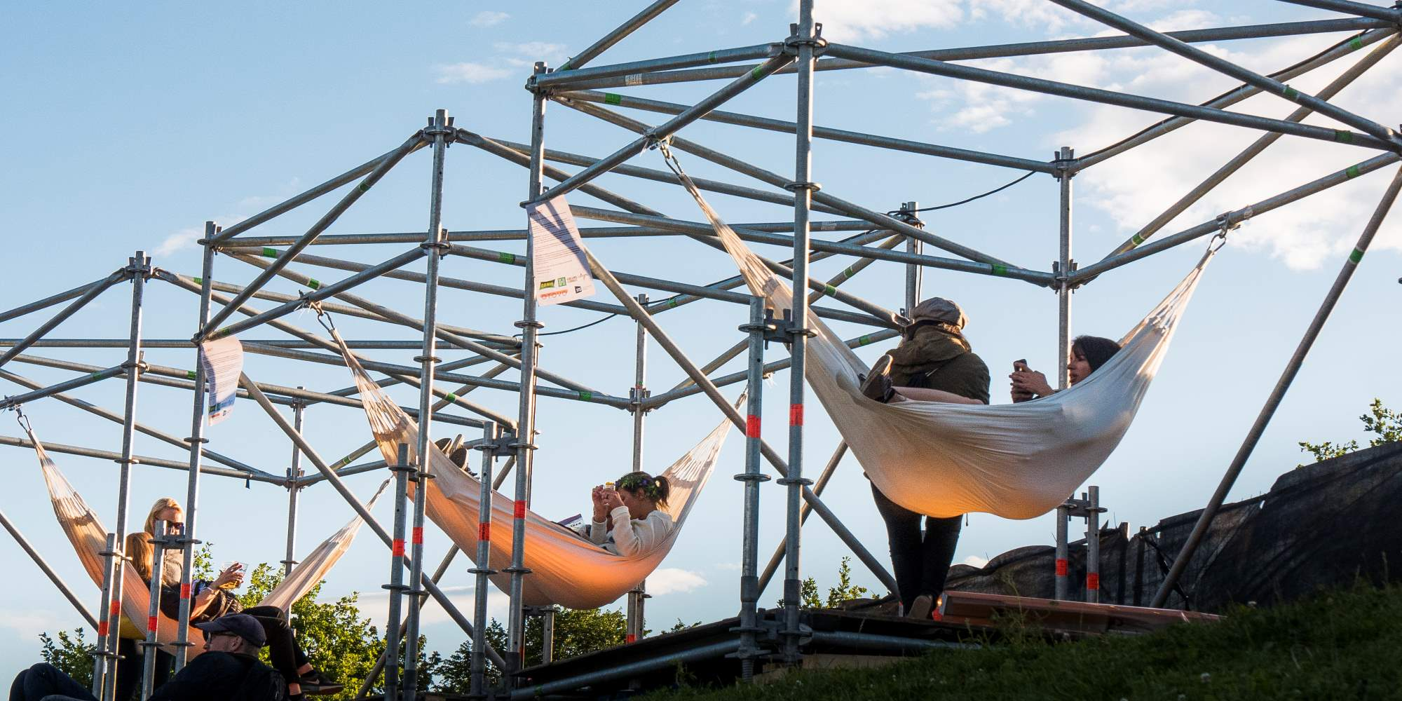 Hammocks at the Øya music festival