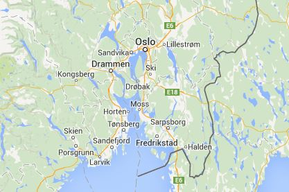 Map Of The Oslo Region